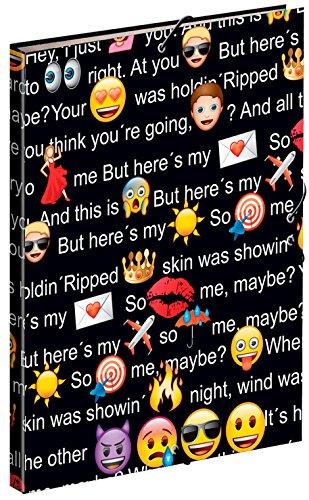 Emoji- Carpeta A4 con Gomas (Montichelvo 54242)