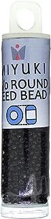 Miyuki Round Seed Bead Size 15/0 8.2g Opaque Black