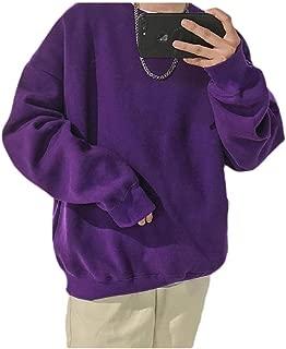 MogogoMen Basic Style Pullover Solid Blouse Long-Sleeve Jacket Sweatshirts