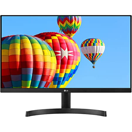 LG 24MK600M-B 24'' Full HD (1920 x 1080) IPS Display with 3-Side Virtually Borderless Design and Radeon FreeSync Technology and Dual HDMI, Black