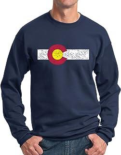 New York Fashion Police Colorado State Flag Sweatshirt - Vintage Print Crewneck