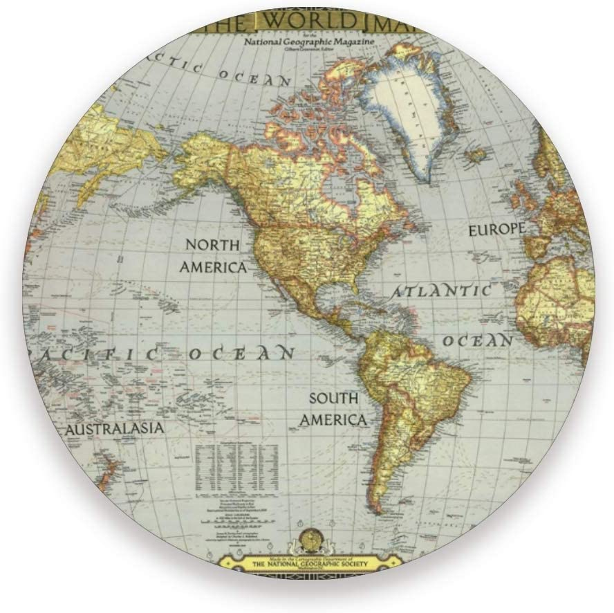 Baofu Bombing free OFFicial store shipping World Map Coasters Absorbent Coast Drink Moisture Non-Slip