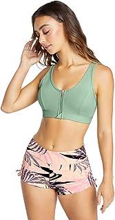 Rockwear Activewear Women's Mi Topia Zip Sports Bra From size 4-18 Medium Impact Bras For