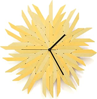 Almiar oro - 41 cm reloj de pared orgánico en tonos dorados