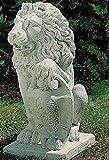 Steinfiguren Gartenskulptur Löwe Statue Gartenfigur aus Betonwerkstein Garten-Statue Garten