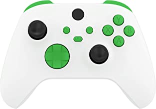 eXtremeRate Green Replacement Buttons for Xbox Series S & Xbox Series X Controller, LB RB LT RT Bumpers Triggers D-pad ABX...