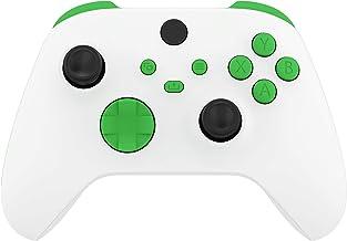 eXtremeRate Botões de substituição verdes para Xbox Series S e Xbox Series X Controller, LB RB LT RT Bumpers Disparadores ...