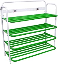 IBS Heavy Duty Multi-Purpose Standing Home Organizer Stackable Shoe Rack-(4 Tier,Green)