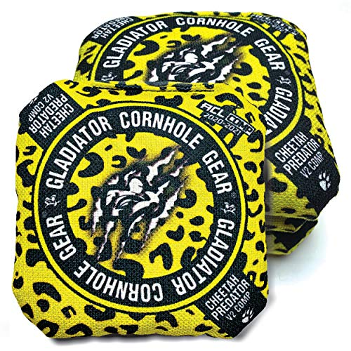 ACL Approved Cornhole Bags Regulation Size 16 Oz. Cornhole Bean Bags for Cornhole Toss Game. Professional Cornhole Bags Slick and Stick Sides, ACL Stamped Corn Hole Beans Bags (Yellow, 4 Bags / 16.00)