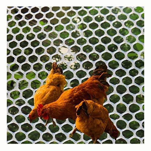 XXN Clear Mesh Netting Plastic,Poultry Hex Garden Fence Net Plant Trellis Net Lawn Pet Fence Bird Flower Hard Plastic Outdoor Pool Leaf Barrier Netting for Kids Poultry Chicken Thick Plastic Nets
