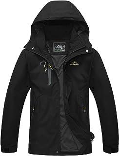 SUKUTU Men's Outdoor Waterproof Jacket Windproof Camping Hiking Mountain Jacket Multi-Pockets Sports Jacket