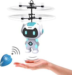Flying Toys, Kids Flying Ball Robot Toys for Boys Girls 8 9 10 Year Old Gifts, Hands Free Operated Mini Drone Infrared Ind...