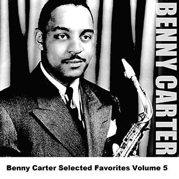 Benny Carter Selected Favorites Volume 5