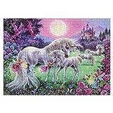 CHAOCHI Puzzle 1000 Piezas,Rompecabezas Adultos, Puzzle Rompecabezas Regalo para Niños Adultos,Unicornio Rosa Puzzle,Decoración Hogareña(70 * 50cm)