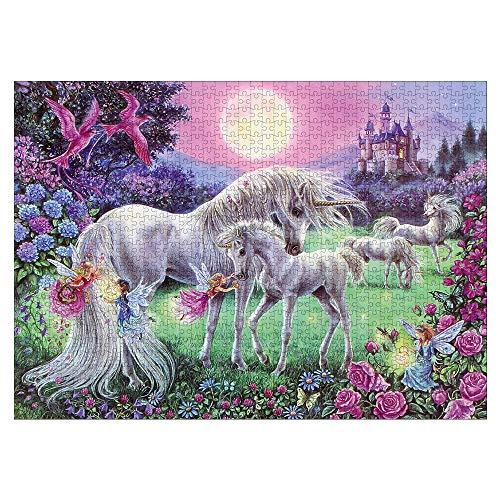 CHAOCHI Puzzle 1000 Piezas Adultos,Juegos de Habilidad para Toda la Familia,Regalos para Familiares y Amigos,Unicornio (70 * 50cm)