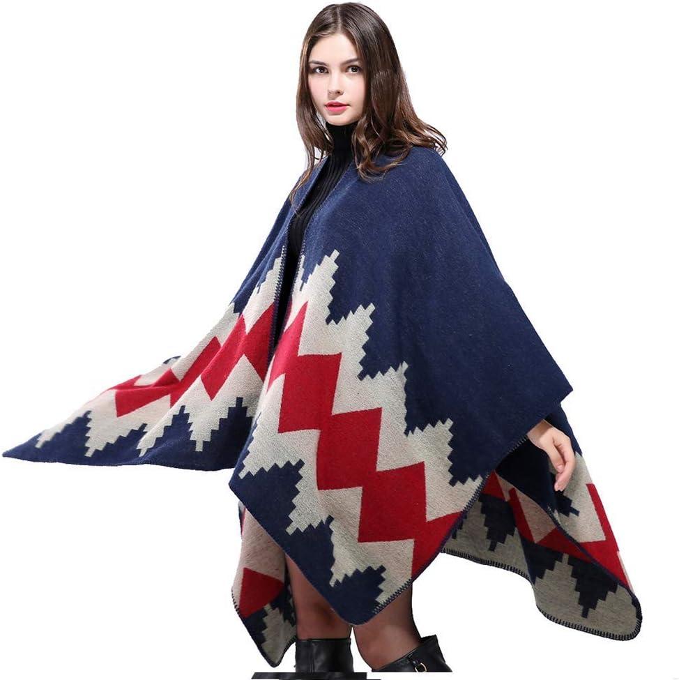 Series 1-khaki Womens Blanket Shawls Wraps Winter Open Front Poncho Cape Oversized Cardigan Sweater