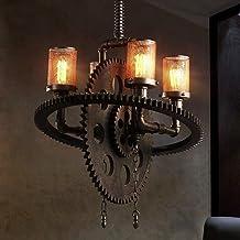 XIANGAI غرفة المعيشة غرفة الطعام مطعم غرفة نوم دراسة مصباح أسود حديد معدني معدات سقف إضاءة قابل للتعديل