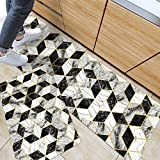 ZebraSmile Set of 2 Anti Fatigue Thin Oil Stain Resistant Kitchen Mat Non Slip Heavy Rebound Cushion...