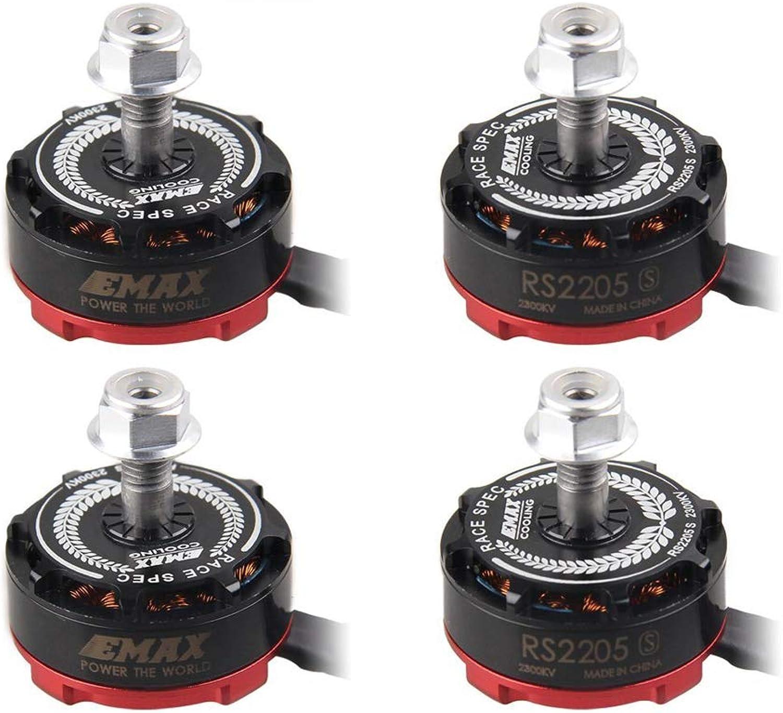4pcs EMAX RS2205S 2300KV Brushless Motor for X210 QAV250 QAV300 FPV Racing Drones Multiredor Quadcopter