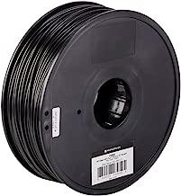 Monoprice ABS Plus+ Premium 3D Filament - Black - 1kg Spool, 3mm Thick