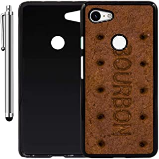 Custom Case Compatible with Google Pixel 3 XL (Bourbon Biscuit Bar) Plastic Black Cover Ultra Slim | Lightweight | Includes Stylus Pen by Innosub