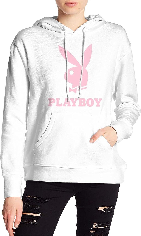 Benksrt Play Boy Women's Sweater Hooded Long Sleeve Fashion Hip-Hop Sweatshirts Pullover Hooded Sweater
