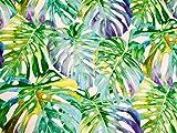 Vorhang-Stoff mit tropischen Blättern, 140 cm breit,