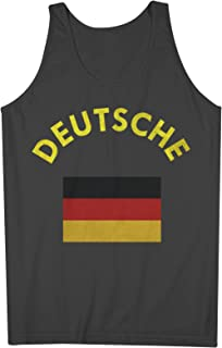 Deutsche Deutschland Germany German Flag 男性用 Tank Top Sleeveless Shirt