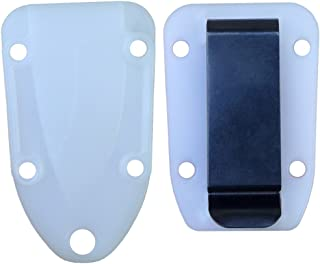 Molded Sheath and Belt Clip Plate (White/Clear) for Candiru Knife