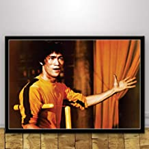 JYWDZSH Canvas Print Bruce Lee Kung Fu King Actor Poster Wall Art Picture Canvas Painting for Room Home Decor,30X40Cm No Frame