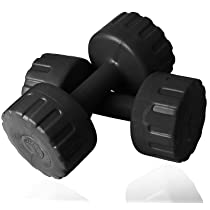 Aurion PVC Dumbbells Weights Exercise Barbell For Men & Women