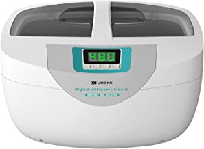 Ukoke UUC25W, Professional Jewelry Timer, Portable Household Ultrasonic Cleaning Machine, Eyeglasses Denture Cleaner, 2.5 L, Green