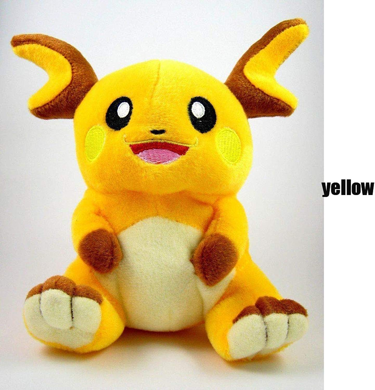 Raichu Plush Toy Stuffed Soft Doll - 7 Inch
