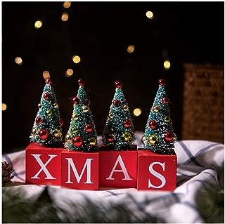 Bigzzia Mini Christmas Tree Xmas Decoration, Home Decoration DIY Room Gifts Ornaments 4 Pcs