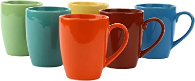 Kittens Multi Color Gloss Finish Coffee Mugs With Paper Thin Coasters,Set Of 6