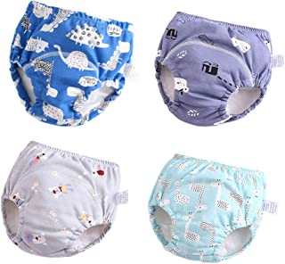 Baby Girls' 4 Pack Cotton Training Pants Toddler Potty Training Underwear for Boys and Girls 12M-4T