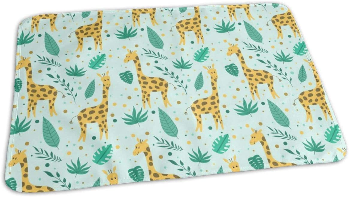 2021 new UAJAR Giraffe and Boston Mall Flowers Baby Reusable Pad Porta Changing Cover