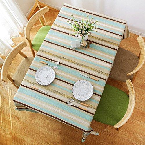 ASL Modern Simple Stripe Table Tissu Littérature et Art Bleu Salon Table basse Cloth Hôtel Restaurant Nappe Rectangulaire sélectionner (Couleur : #3, taille : 110 * 170CM)