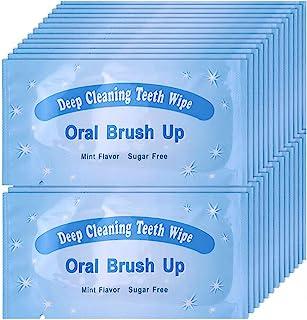 UNIQUE2U 100 pcs Textured Disposable Fresh Breath Deep Cleaning Teeth Wipes Finger Brush Teeth Wipes Oral Brush Finger Bru...
