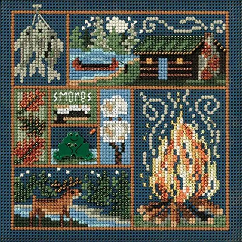 Cabin Fever Beaded Counted Cross Stitch Kit Mill Hill Buttons & Beads 2010 Autumn MH140205