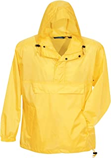 TRM Men's Nylon Navigator Water Resistant Hooded Shell Jacket (8 Colors, S-6XL)