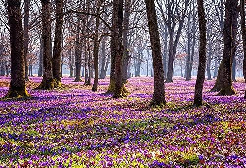 Fondo de fotografía Flores de jardín de Primavera Hermoso Paisaje Natural Boda Niños Telón de Fondo Foto Teléfono Estudio fotográfico A2 10x7ft / 3x2.2m