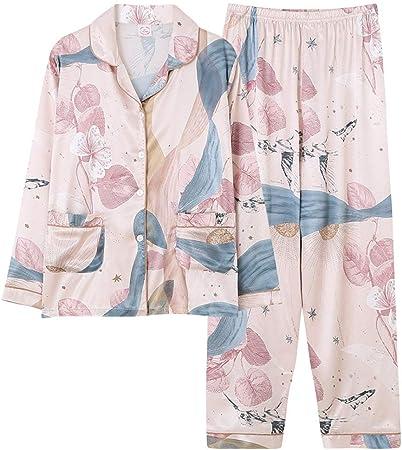 Pijama Para Mujer,Conjunto De Ropa De Dormir De Satén De Seda ...