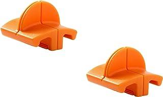 Fiskars Lames de rechange originales pour massicots, 2 unités, Coupe droite, High Profile TripleTrack, Orange, 1003904