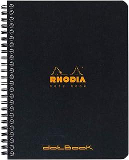 Rhodia 193469C notitieboek (gelinieerd, ideaal voor uw notities, DIN A5, 14,8 x 21 cm, 80 vellen) 1 stuk zwart