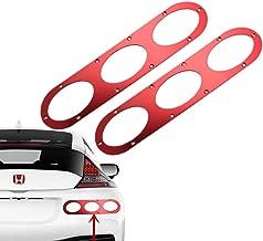 DEWHEL Rear JDM 2 Piece Universal Car Billet Aluminum Bumper Race Auto Air Diversion Diffuser Panel (Red)