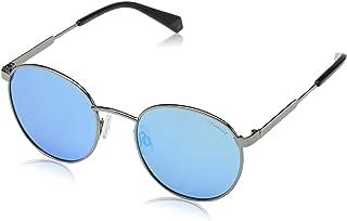 Polaroid Polarized Round Unisex Sunglasses - (PLD 2053/S 51EX 010 51 Silver Color)