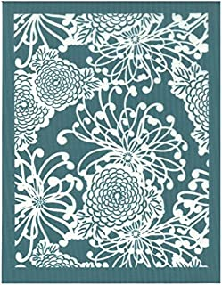DIY Silk Screen Printing Stencil, Ready To Use Japanese Chrysanthemum Pattern Design, for Fabric, Wood, Ceramic, T-Shirts, and more!