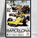SGDDGF Comic abstrakte Plakate und Drucke 1966 Monaco Grand