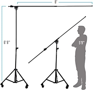 AxcessAbles MB-W Professional Studio Microphone Boom Stand with Locking Wheels